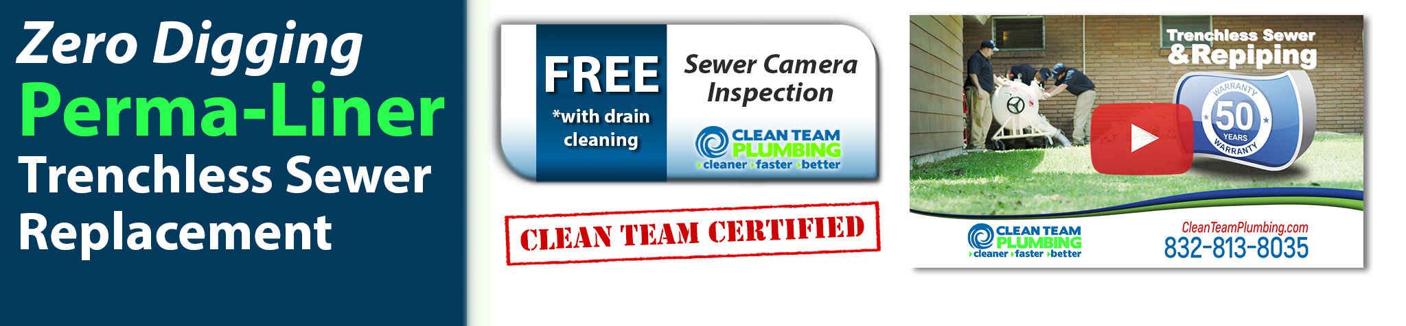 No-Dig Houston Trenchless Sewer Replacement with Perma-Liner
